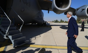 Kerry went from Amman to Baghdad Wednesday.