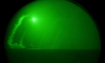 A Tomahawk missile launch in 2011, seen through a night vision lens. The U.S. is using Tomahawk missiles in its strikes against Syria.