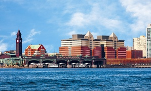 Hoboken, New Jersey, as seen from the Hudson River.