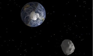 In February 2013, the 150-foot-wide asteroid 2012 DA14 passed close by Earth.