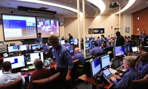One of the control rooms at NASA's Goddard Space Flight Center in Greenbelt, Md.