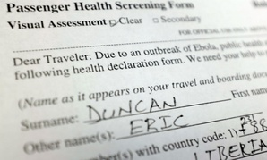 Liberian officials say Duncan lied about his contact with the Ebola virus during airport screening.