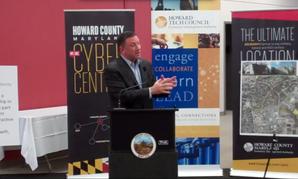 Howard County Executive Ken Ulman speaks during Wednesday's wall-breaking ceremony.