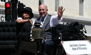 Wisconsin Gov. Jim Doyle, seen during a circus parade in 2009.