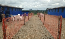 An Ebola treatment center in Libera.