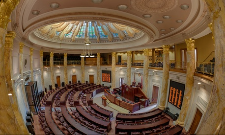 The Arkansas House of Representatives chamber.