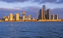 Detroit, Michigan, as seen from Windsor, Ontario.