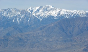 The artist defaced Telescope Peak in Death Valley National Park.