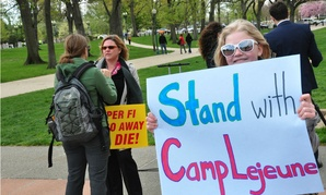 Supporters rally for Marines and their families exposed to toxic drinking water at Camp Lejeune. The Supreme Court dealt them a blow in June, siding with the government.