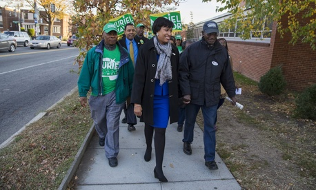 D.C. Councilmember Muriel Bowser was on track to be the next mayor of the nation's capital.