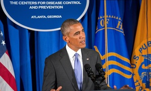Obama addressed the nation from CDC headquarters in September.