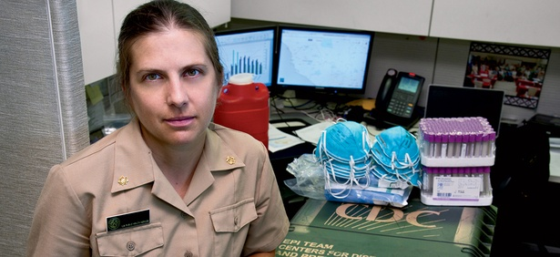 CDC's Leisha Nolen packed  a travel kit of lab supplies  for her trip to Sierra Leone.