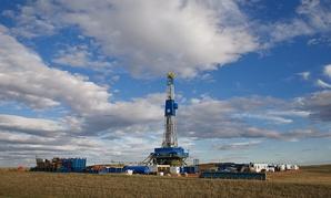 An oil rig near Williston, North Dakota.