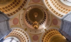 The Washington State Capitol rotunda in Olympia.