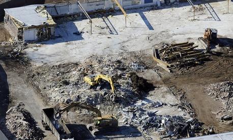 The former Sandy Hook Elementary School building was demolished in October 2013.