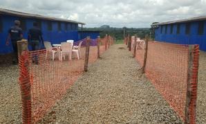An Ebola treatment facility in Liberia.