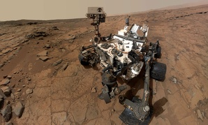A self-portrait of NASA's Mars rover Curiosity.