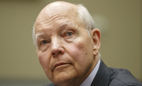 """IRS chief John Koskinen tells employees that agency leadership will do its best """"not to take actions that make your job more difficult or less satisfying."""""""
