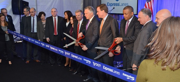 The official ribboncutting for the I-95 Express toll lanes earlier this month.