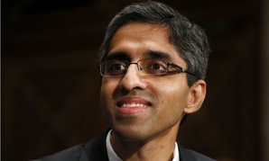 Dr. Vivek Murthy was sworn in as surgeon general Thursday after an 18-month leadership void.