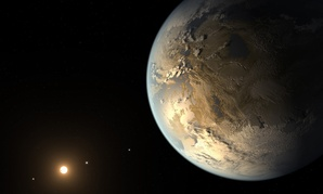 An artist's rendering of Kepler 186f, one of 1,000 Earth-like planets the Kepler spacecraft has uncovered.