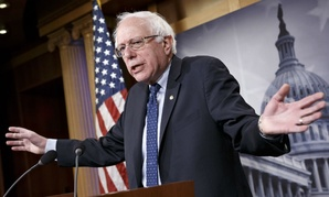 Sen. Bernie Sanders, I-Vt., discusses Republican efforts to cut Social Security and Medicare during a news conference Friday.