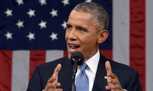 President Barack Obama delivers his State of the Union address.