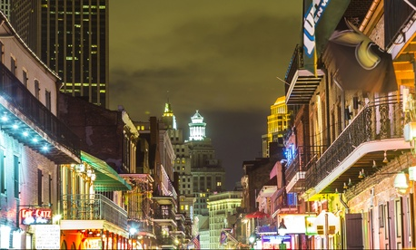 New Orleans' Central Business District as viewed from the French Quarter.