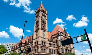 Cincinnati City Hall, the scene of Thursday's incident.