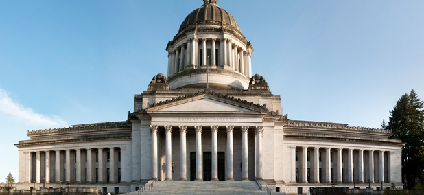 The Washington State Capitol in Olympia is a nearly five hour drive from Spokane on the eastern side of the Evergreen State.