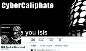 This screen grab made Monday, Jan. 12, 2015 show the front page of the U.S. Central Command twitter account after is was hacked.