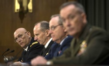 Army Chief of Staff Gen. Raymond Odierno, left, testifies before the Senate Armed Service Committee Wednesday.