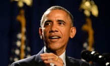 Obama addresses House Democrats in Philadelphia on Thursday.