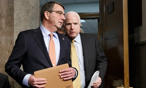 Senate Armed Services Committee Chairman Sen. John McCain, R-Ariz., right, welcomed Ashton Carter to his hearings last week.