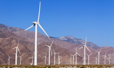 A wind farm near Palm Springs, California