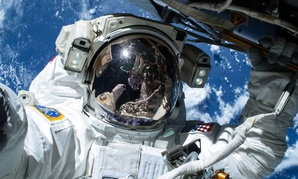 ASA astronaut Barry Wilmore works outside the International Space Station on the first of three spacewalks last week.
