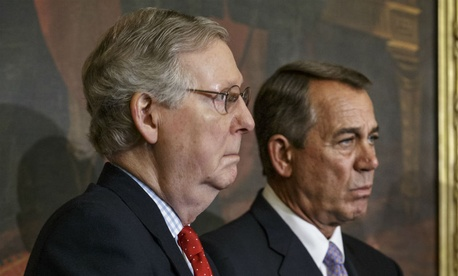 Senate Majority Leader Mitch McConnell (left) and House Speaker John Boehner.