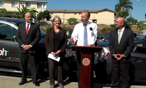 San Diego Mayor Kevin Faulconer speaks at a press conference last week.