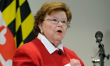 Mikulski made the announcement Monday.