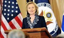 Clinton speaks in 2011 at a State Department event.