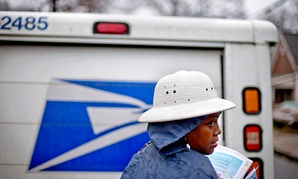Jamesa Euler delivers mail in Atlanta in 2013.
