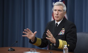 U.S. Navy Adm. Samuel J. Locklear III, the commander of U.S. Pacific Command, conducts a press briefing at the Pentagon in Arlington, Va., Jan. 23, 2014.
