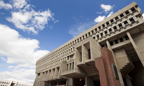 Exterior view of Boston City Hall