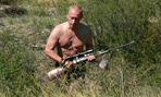 Putin goes hunting shirtless.