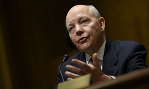 IRS Commissioner John Koskinen testifying at a Senate Finance Committee hearing in February.