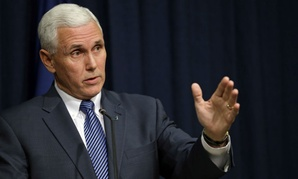 Indiana Governor Mike Pence held a news conference Thursday on the bill.