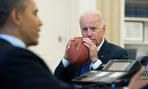 Someone has to remind Biden not to play football in the house.