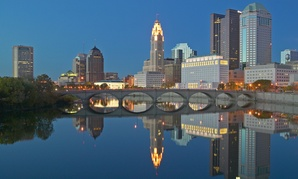 """Columbus, Ohio, where civic boosters like to say """"the cost of living is more living than cost."""""""