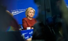 Former Secretary of State Hillary Rodham Clinton speaks at an event March 23.