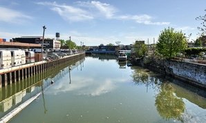 Gowanus Canal runs through Brooklyn in 2014.